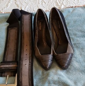 Pumps -shoes and matching belt